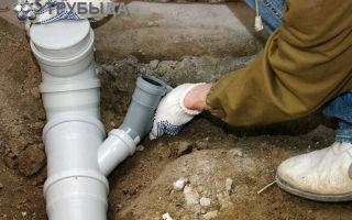Как монтировать канализационные трубы