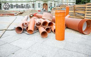 Трубы из разных материалов для ливневой канализации и их монтаж