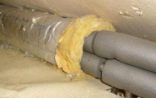 Теплоизоляция водопроводных труб