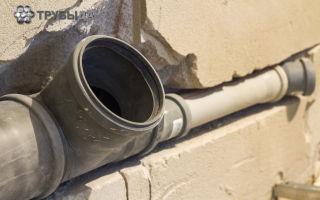 Как провести врезку в канализационную трубу 110