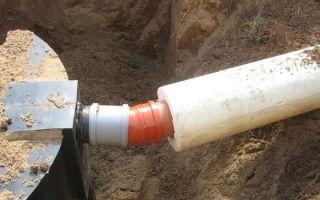 Как выполняется утепление канализационных труб наружной канализации?