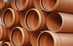 Виды труб НПВХ для наружной канализации