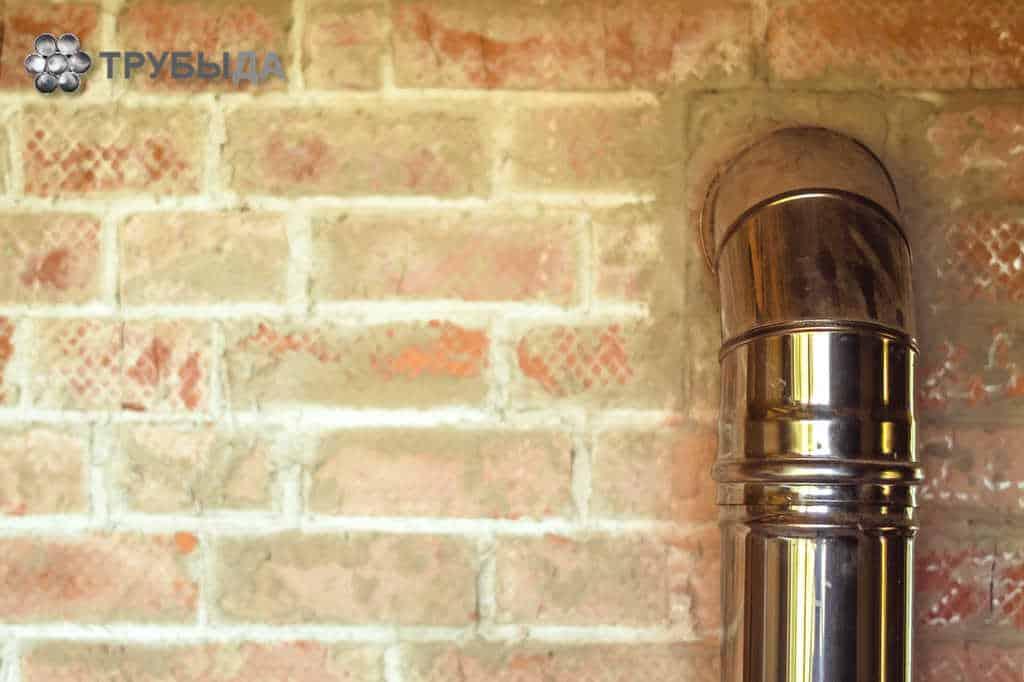 Сэндвич дымоход через стену