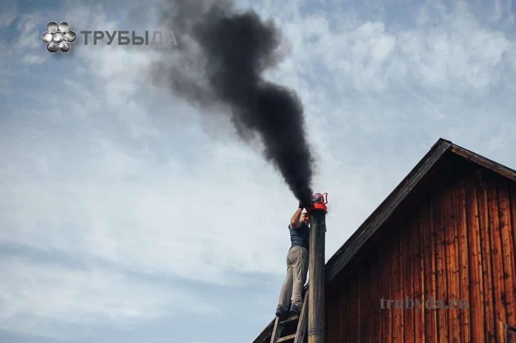 Чистка дымохода с помощью вытяжки