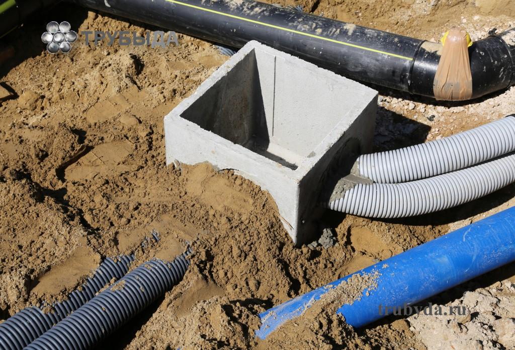 Гофротруба для кабеля в земле