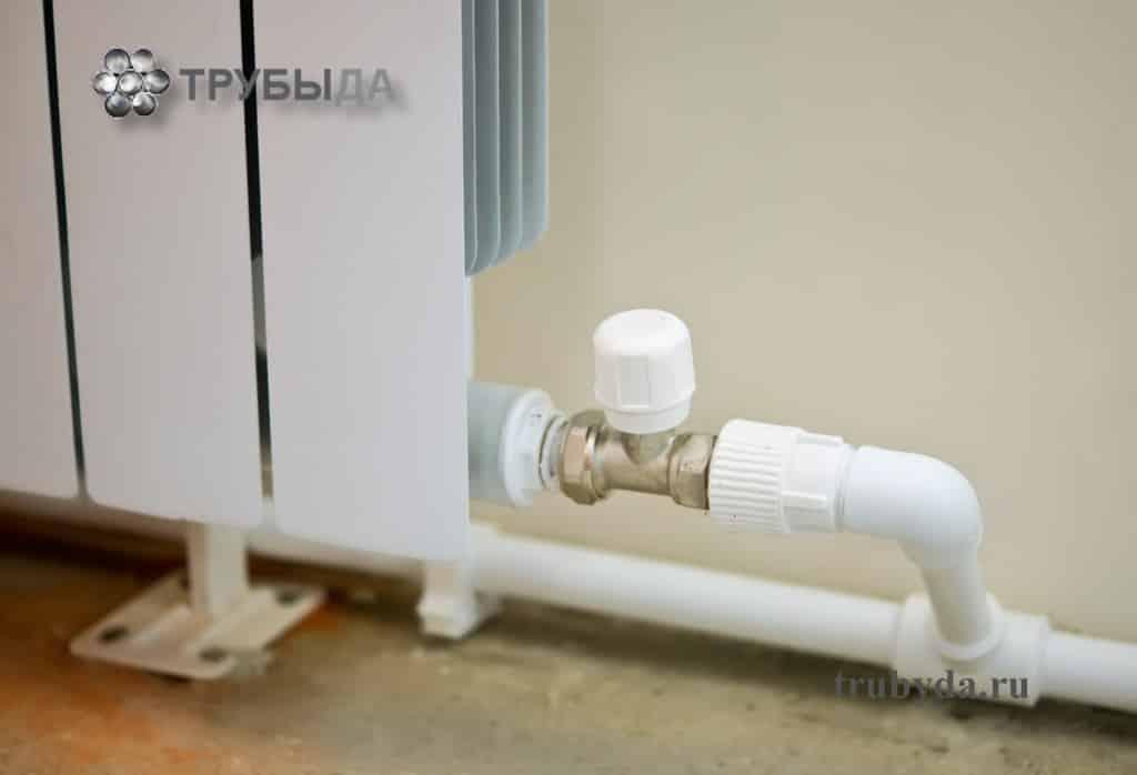 Подключение радиатора к полипропиленовой трубе